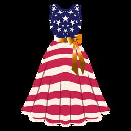 Ilustração de vestido estampado dos Estados Unidos