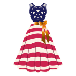 United states patterned dress illustration