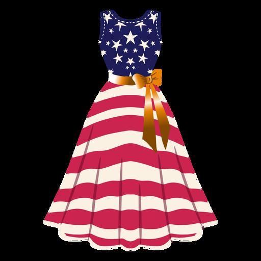 United states patterned dress illustration