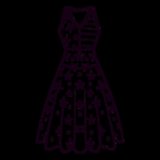 United states patterned dress stroke