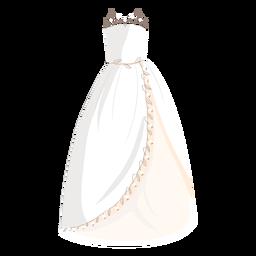 Ilustración de novia vestido de novia