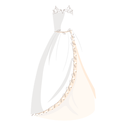 Wedding dress bride illustration
