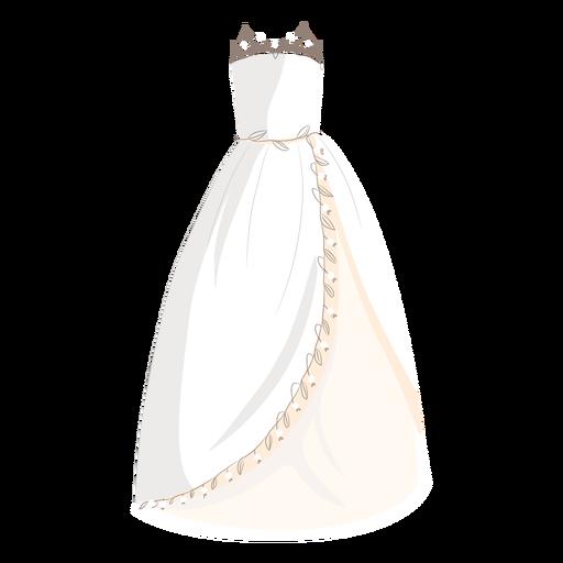 Wedding dress bride illustration