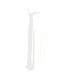 White wedding dress bride illustration