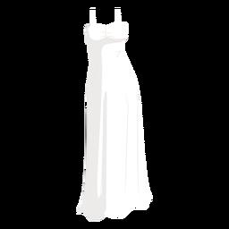 White wedding dress bride illustration