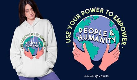 Power to empower t-shirt design