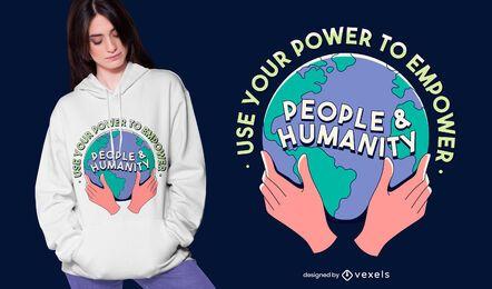 Power to empower t-shirt design