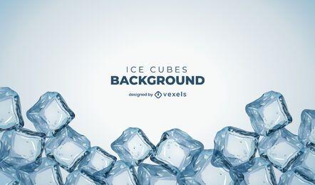 Desenho de fundo de cubos de gelo