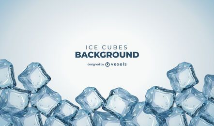 Ice cubes background design