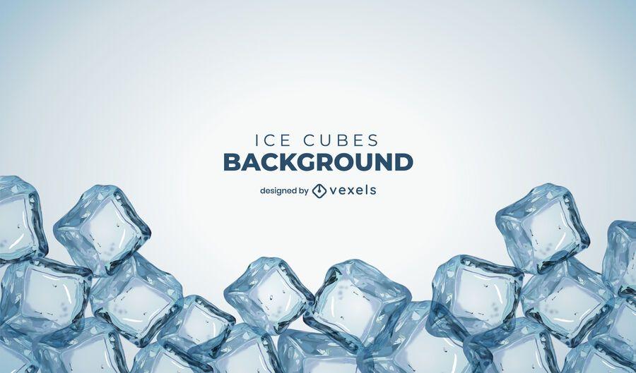 Ice cubes background design