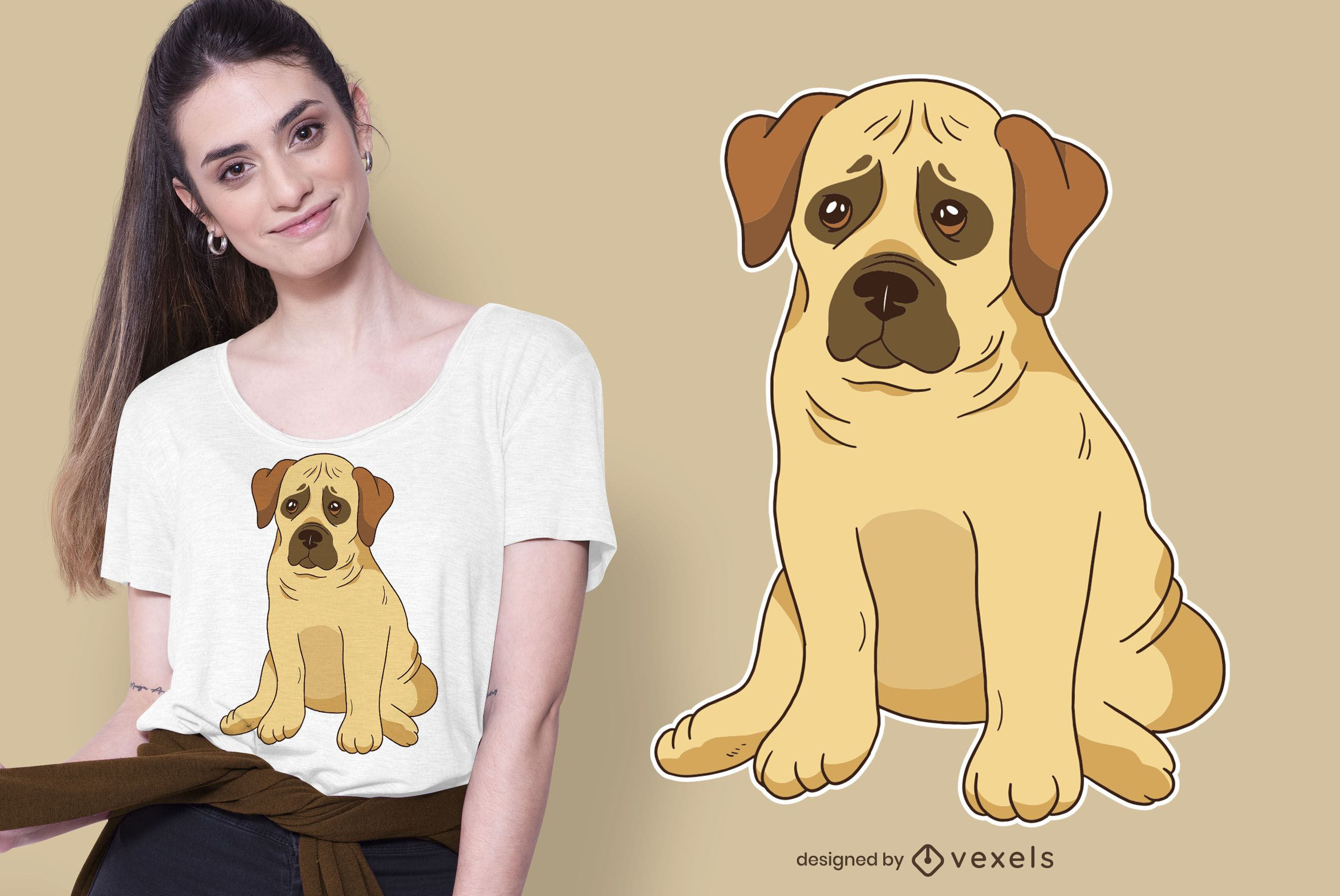 Design de t-shirt Boerboel Puppy Dog
