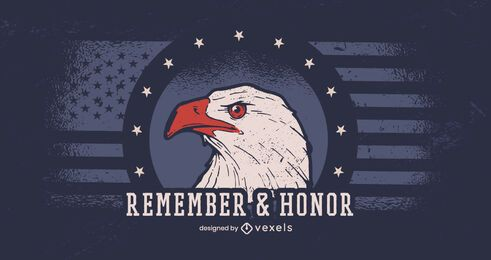 Remember & honor veterans day banner