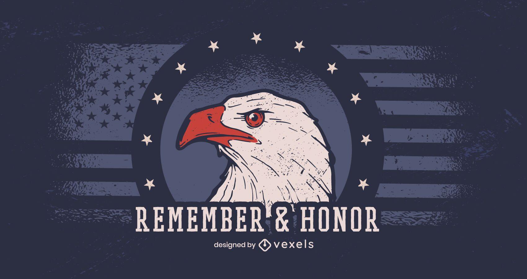Lembrar e homenagear o banner do dia dos veteranos