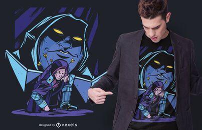 Design de camisetas do Dungeon Master