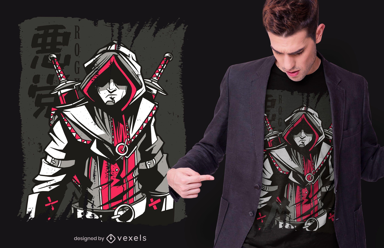 Design de camiseta Dark Medieval Assassin
