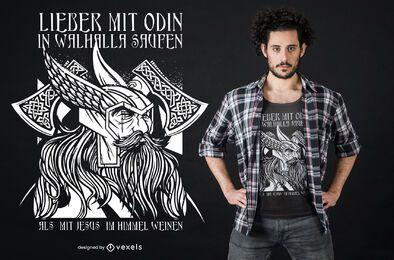 Diseño de camiseta Odin Valhalla
