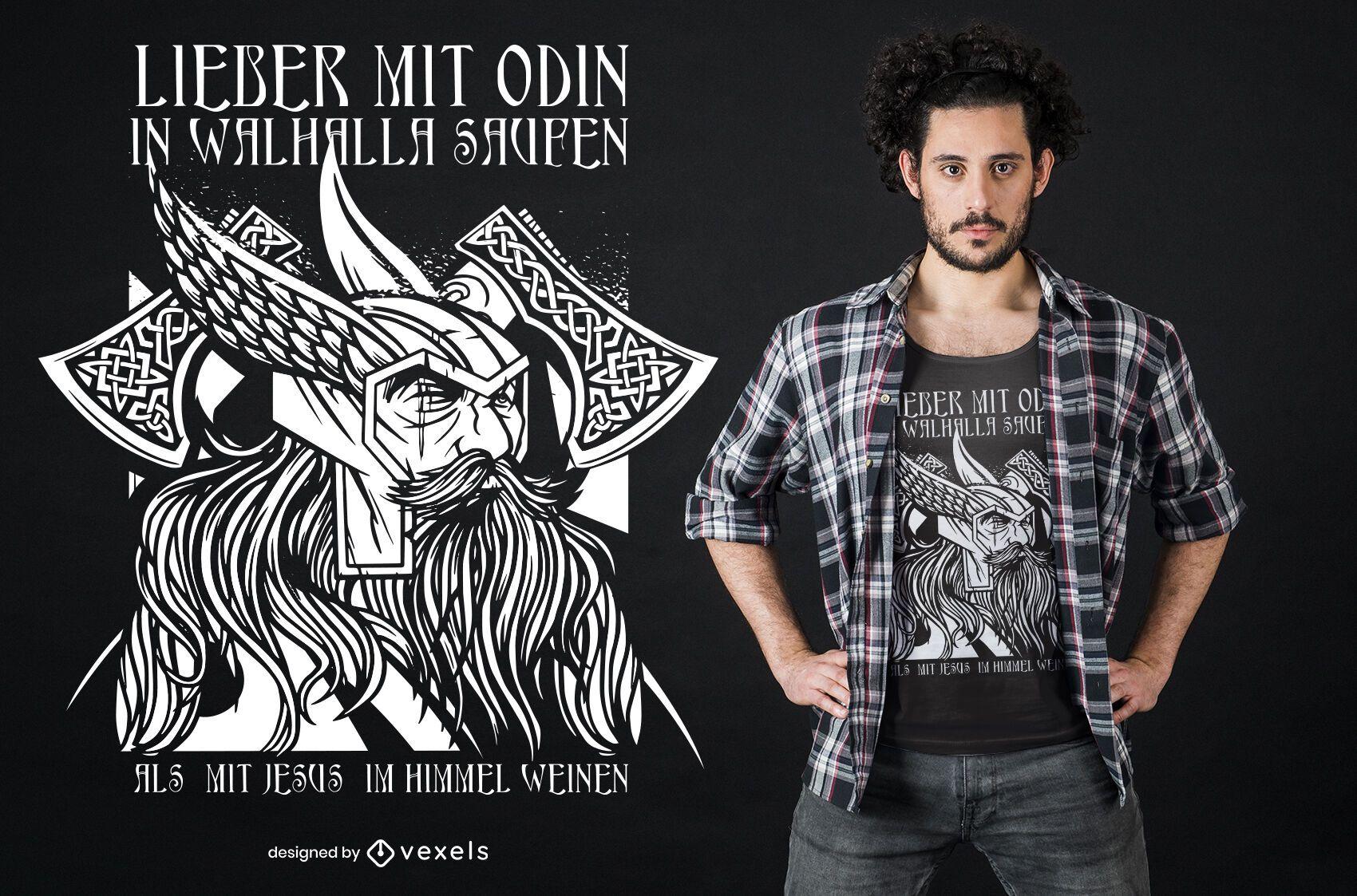 Odin valhalla t-shirt design