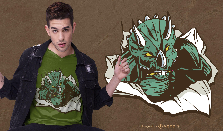 Triceratops paper t-shirt design