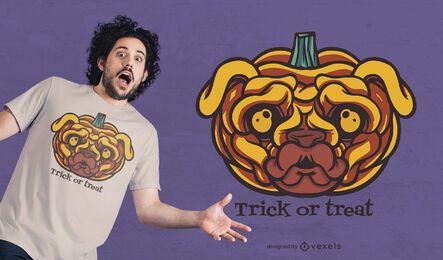 Pug pumpkin t-shirt design