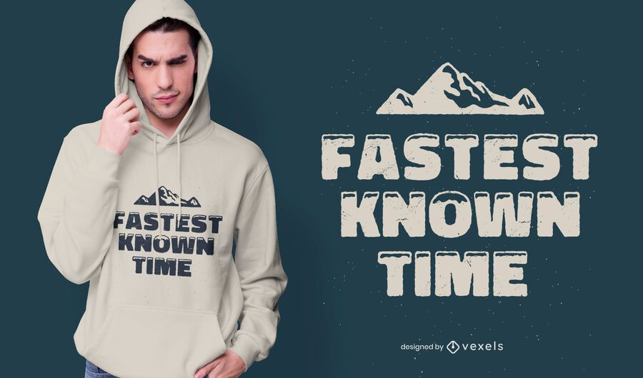 Fastest known time t-shirt design