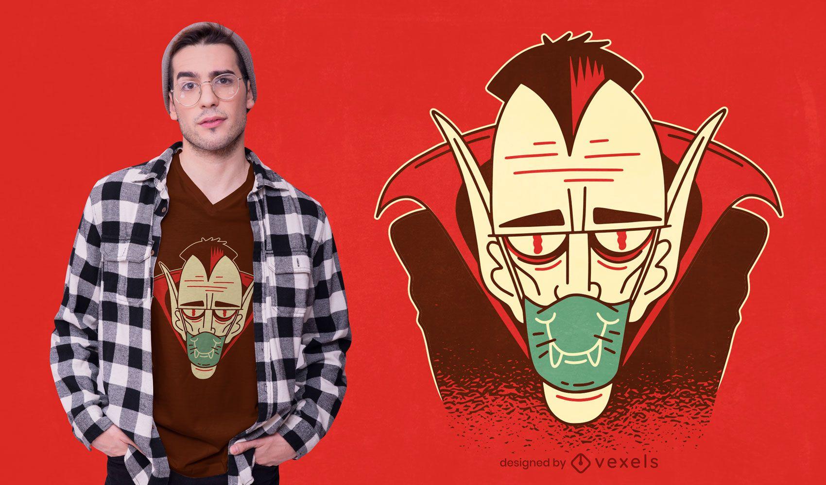 Dracula face mask t-shirt design