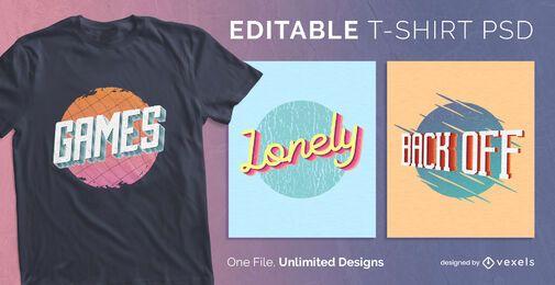 3D t-shirt design psd
