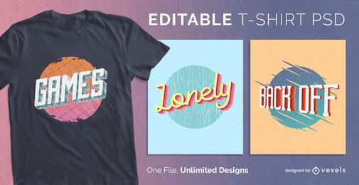 Diseño de camiseta de texto 3d psd