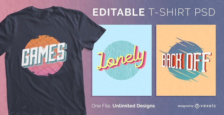 3d text t-shirt design psd