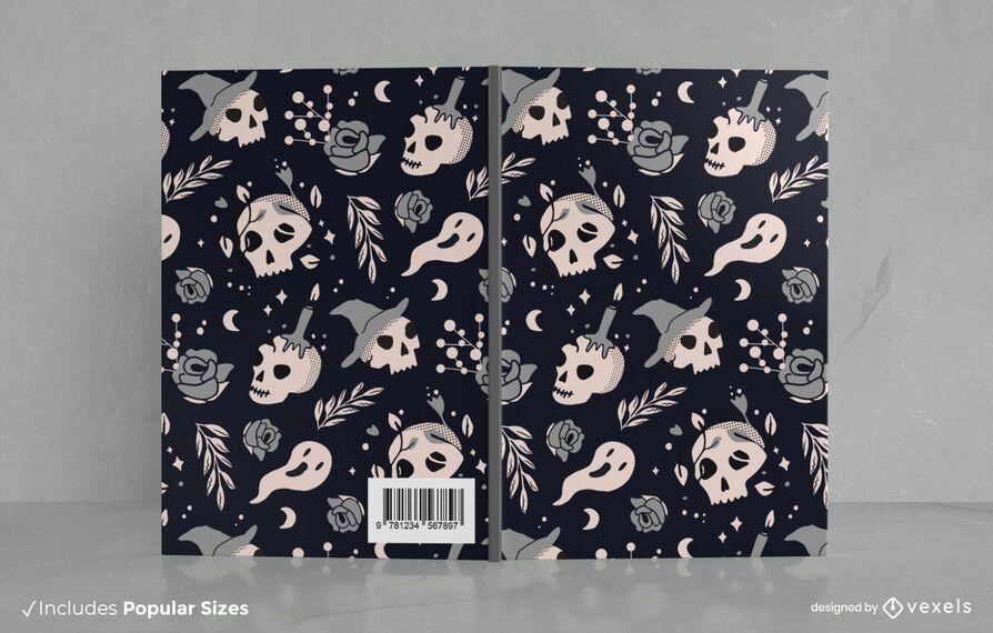 Halloween Black Doodle Book Cover Design