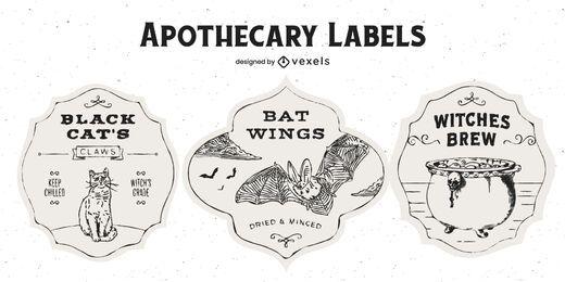 Pacote de emblemas de boticário de Halloween