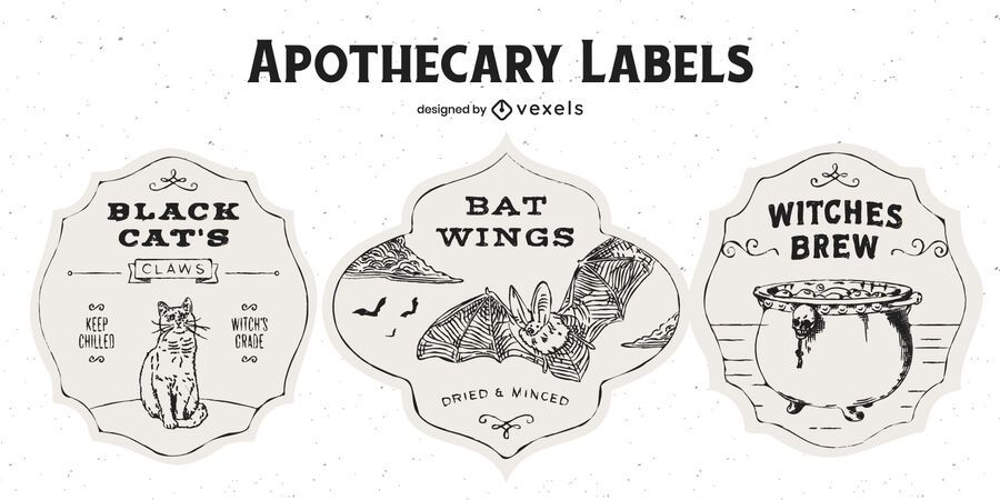 Halloween Apothecary Badge Pack