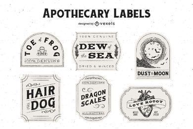 Halloween Apothecary Label Pack