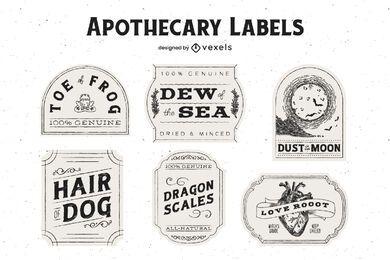Pacote de etiquetas do boticário de Halloween