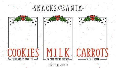 Paquete de marcos de pancartas de Navidad Santa Tray