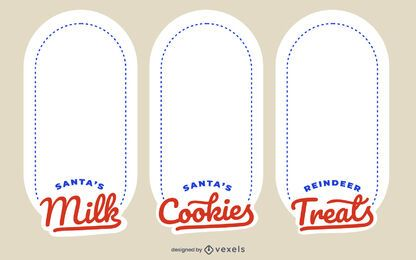 Christmas Tray Label Design Set