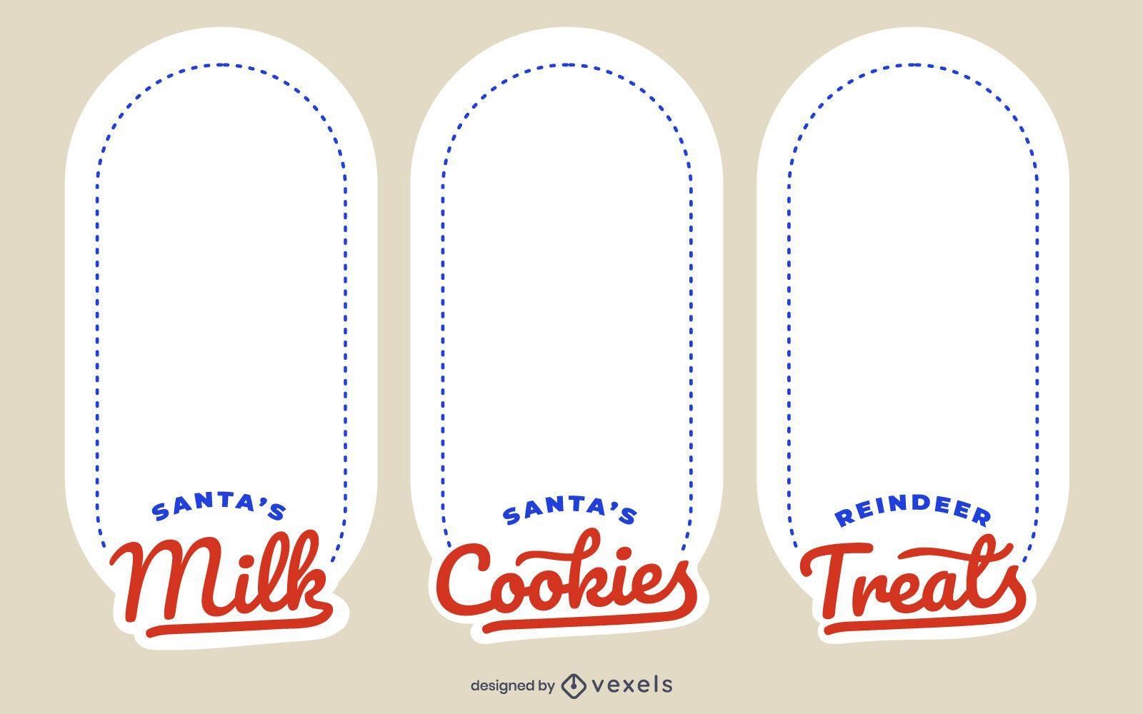 Christmas Tray Label Design Set