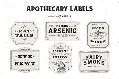 Halloween Apotheker Label Design Pack