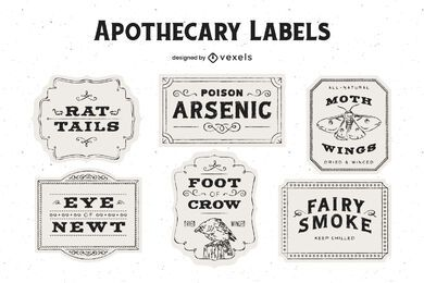 Paquete de diseño de etiquetas de boticario de Halloween