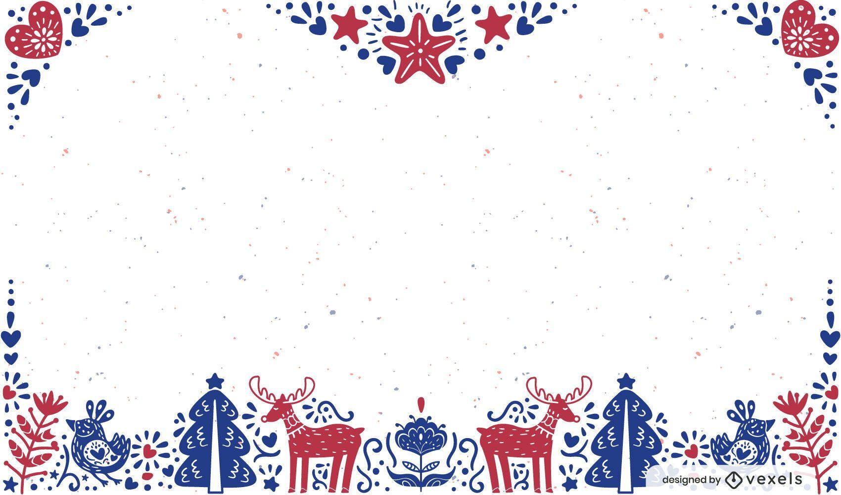 Christmas frame background design