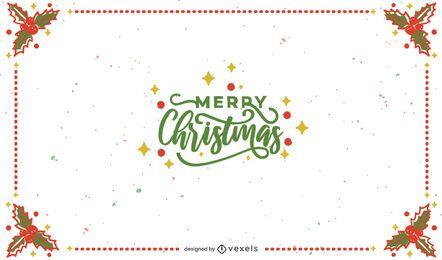 Frohe Weihnachten Rahmen Hintergrund Design