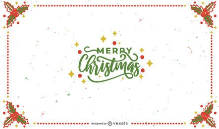 Merry christmas frame background design