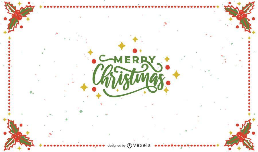 Merry christmas frame background design