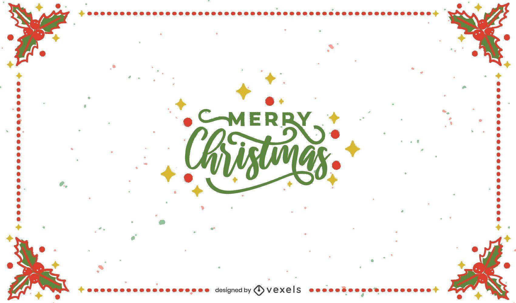 Diseño de fondo de marco de feliz navidad