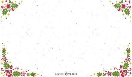 Frame christmas background design