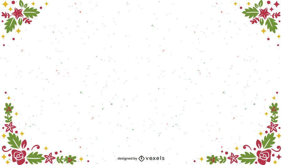 Diseño de fondo de navidad marco