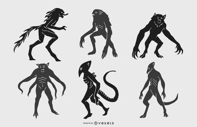 Monster Silhouette Vector Pack