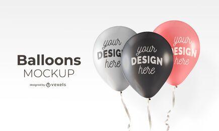 Balloons mockup design
