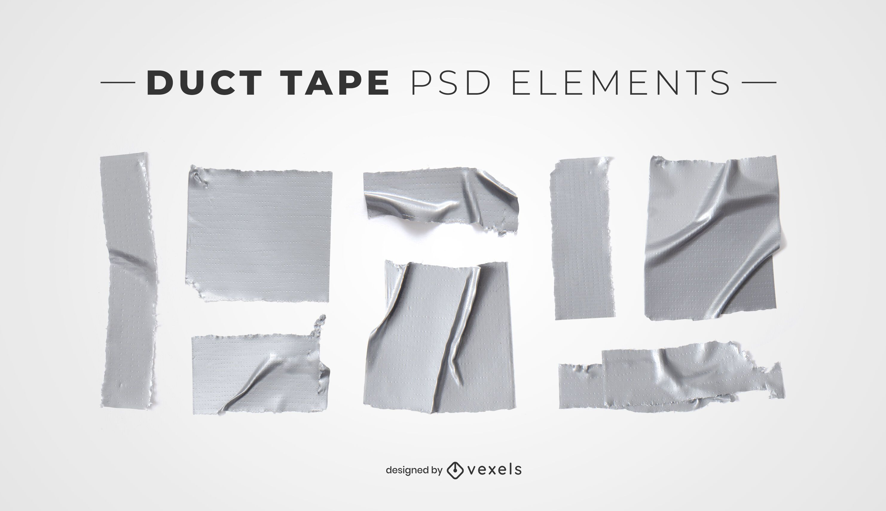 Duct tape psd elements for mockups
