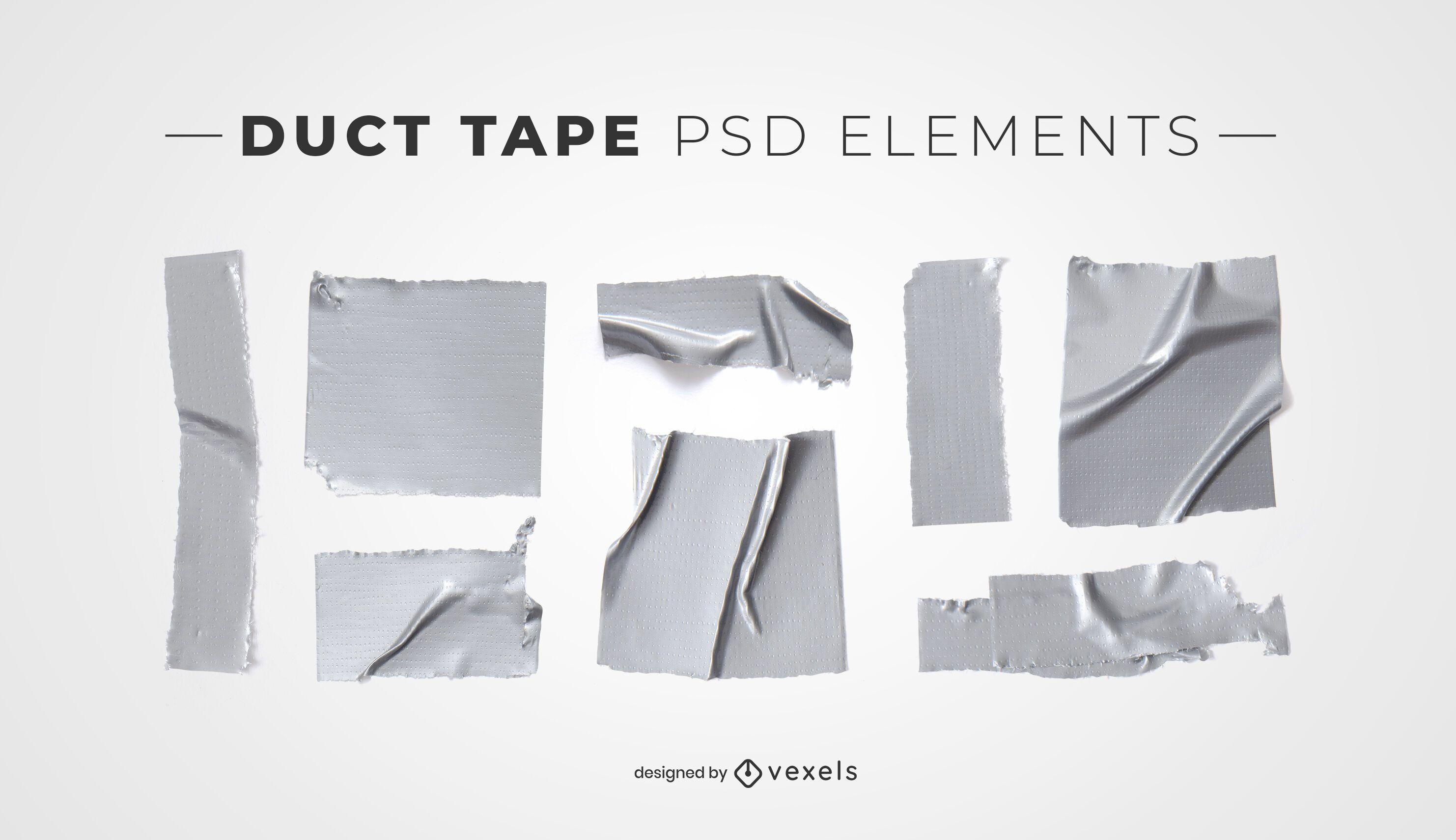 Elementos psd de cinta adhesiva para maquetas.