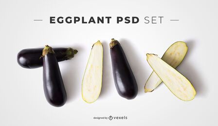 Eggplants psd elements for mockups